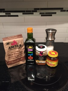 Ingredients for the pizza dough